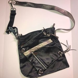 Kipling crossbody double purse metallic accents